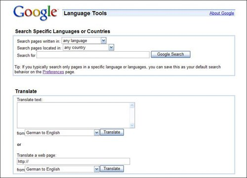 Translating Text and Web Pages from One Language to Another
