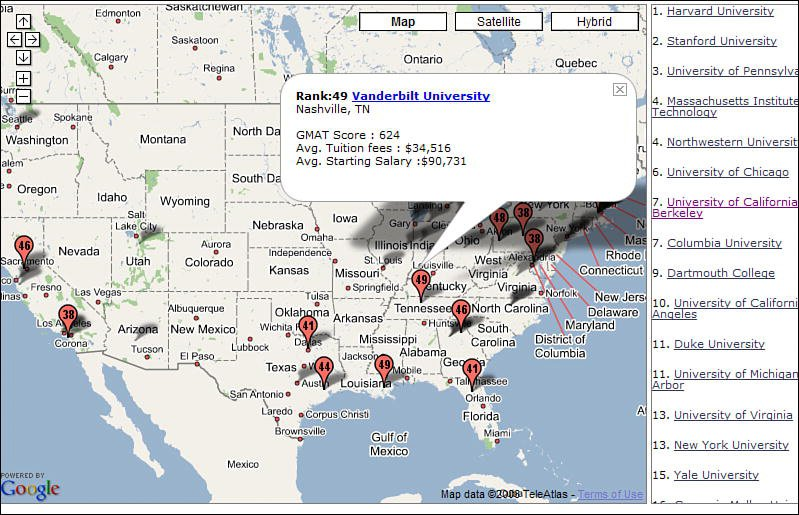 Colleges And Universities - Us map of universities and colleges